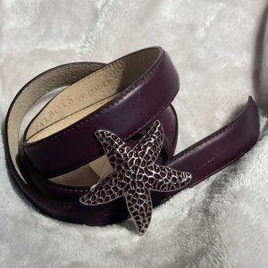 NWT Talbots Leather Starfish Belt